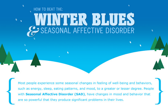 How to beat the winter blues and Seasonal Affective Disorder – infographic
